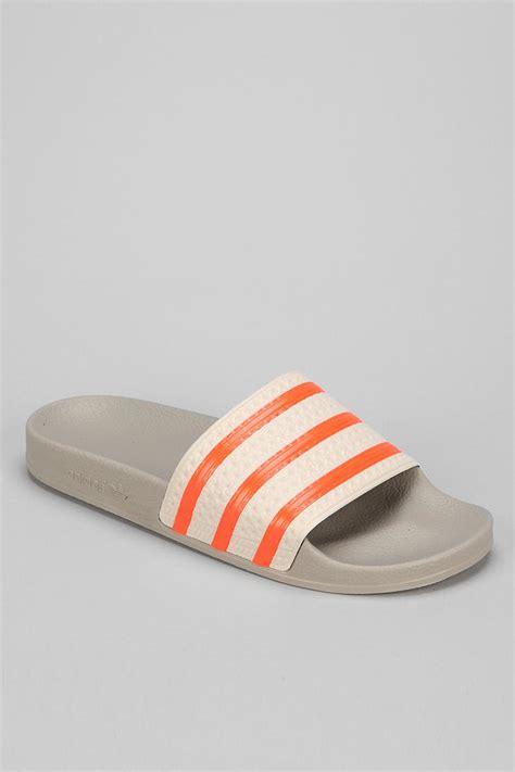 Adidas Adilette Chunky Sandal lyst outfitters adidas adilette slipon sandal in orange for