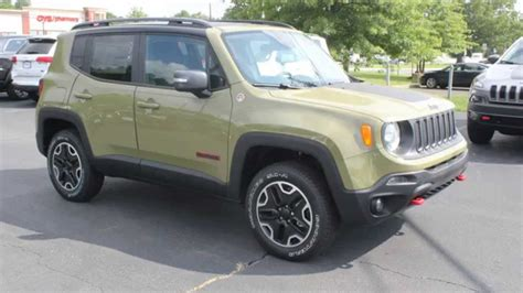 trailhawk jeep green new 2015 jeep renegade trailhawk commando green youtube