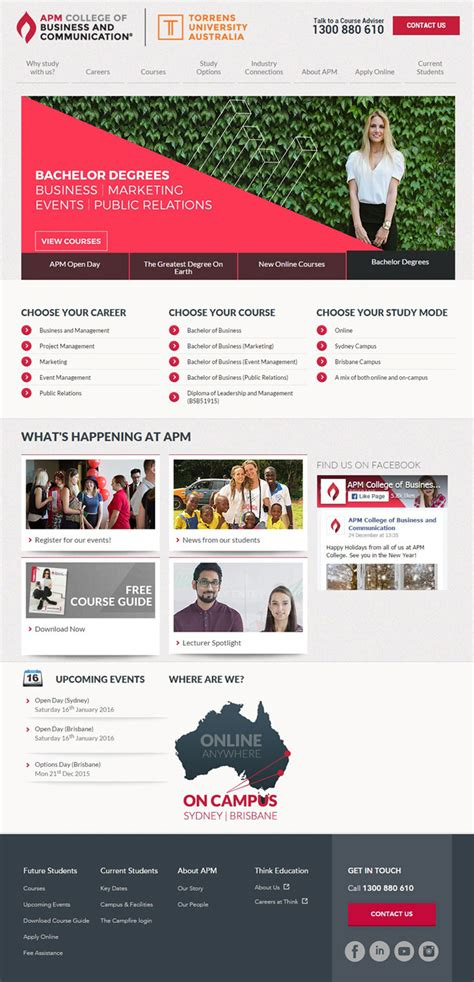 spa website inspiration 30 university and college websites inspiration designyep