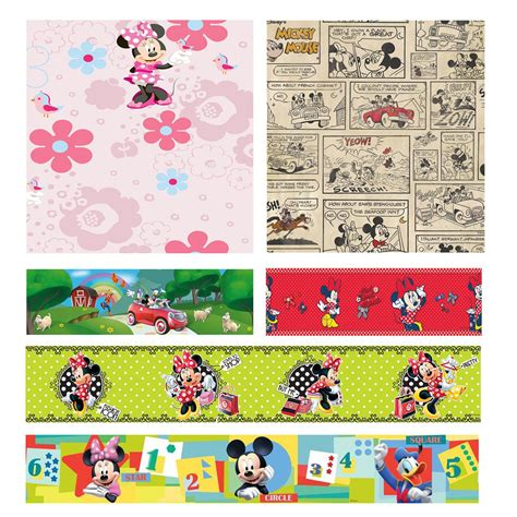 minnie mouse wallpaper for bedroom disney mickey minnie mouse wallpapers and borders kids