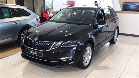 škoda octavia estate se l facelift in black magic 2017 hd