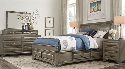 Mill Valley King Bedroom Set by Mill Valley Ii Gray 5 Pc King Sleigh Bedroom With Storage