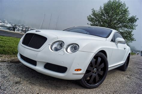 matte white bentley bentley continental matte white wrap black powder coated