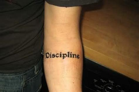 discipline tattoo arm tattoos page 97