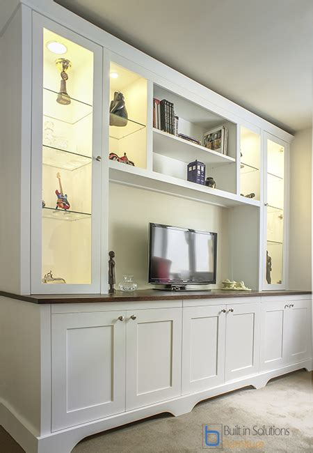 gorgeous built  cupboards   living room