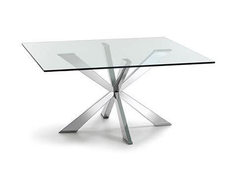 Square Glass Dining Tables Spyder Square Glass Dining Table By Cattelan Italia