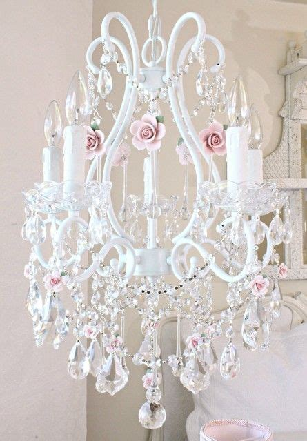 white and pink chandelier 25 best ideas about shabby chic chandelier on