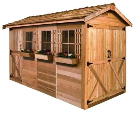 16 X 8 Shed by Cedar Shed 16 X 8 Ft Boathouse Garden Shed Traditional