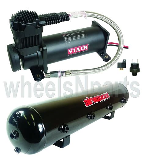 viair 444c black air compressor 5 gallon tank 165 200 psi air ride suspension ebay