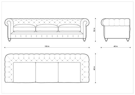 chesterfield sofa dimensions chesterfield 2 1 seater