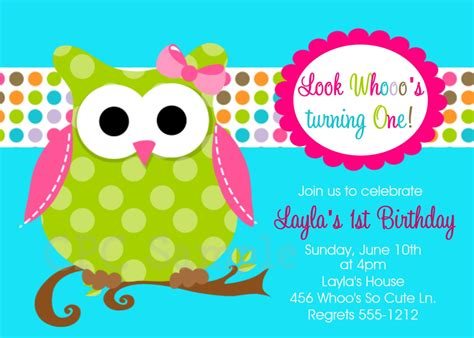 printable owl party invitations owl birthday invitations printable or printed invite