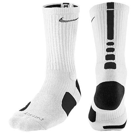 sock black and white nike elite basketball crew socks s basketball