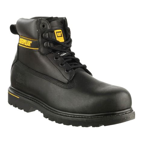 Caterpillar Holton Safety Boots caterpillar holton s3 black safety boots charnwood