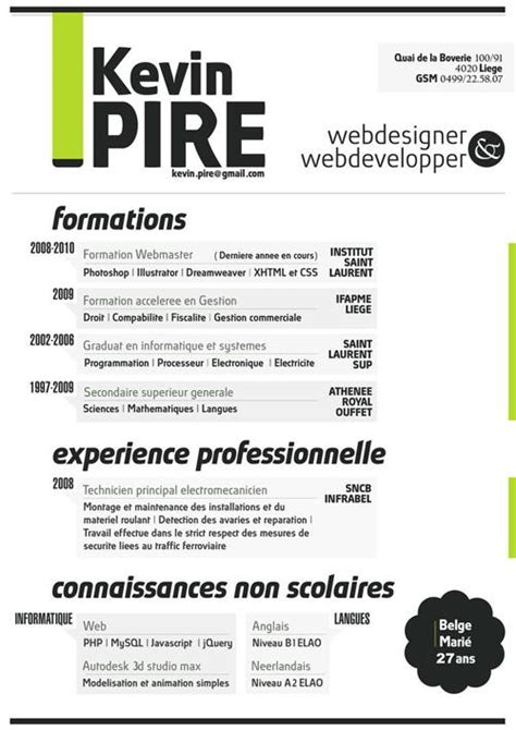 25 exceptional graphic resumes that will help you build