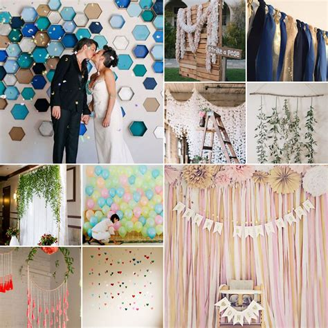 Handmade Backdrops - diy wedding backdrops
