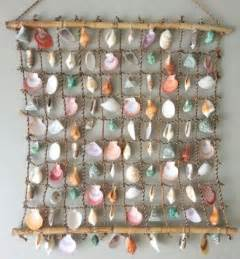 seashell decorations home seashell net wall hanging could be driftwood