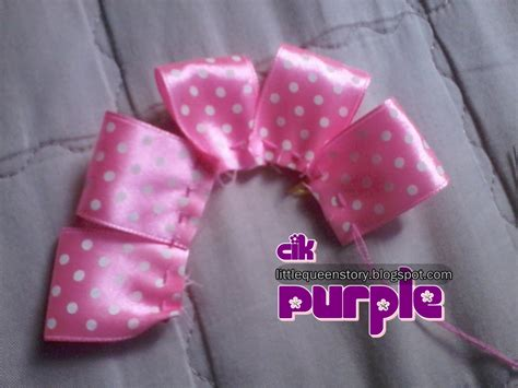 Hair Panjang Flower Pearl Bahan Kain cik purple tutorial craft 1 flower ribbon brooch