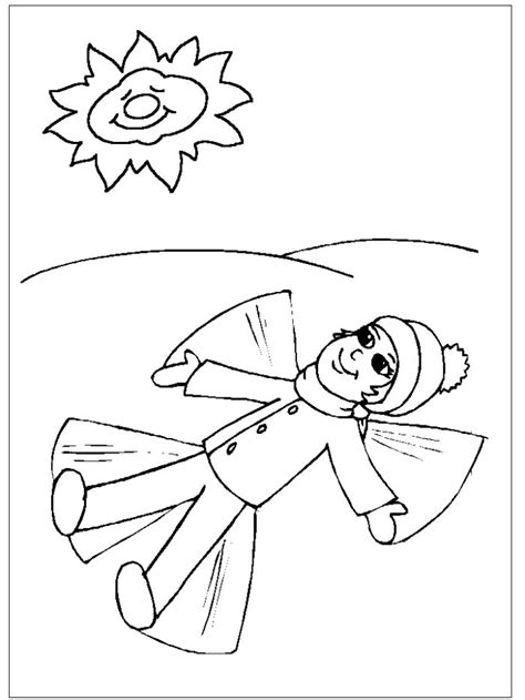 coloring pages of snow angels janice s daycare seasons winter