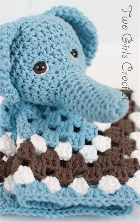 crochet pattern elephant baby blanket elephant crochet security blanket elephant lovey baby