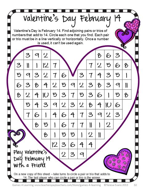 valentines puzzle 4 learning s freebies