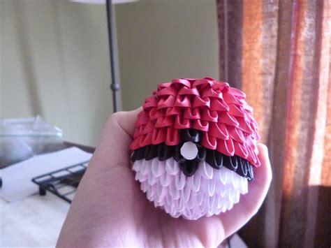3d Origami Pokeball - 3d origami pokeball origami