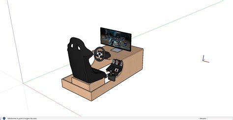 costruire volante pc cockpit de jeux volant logitech