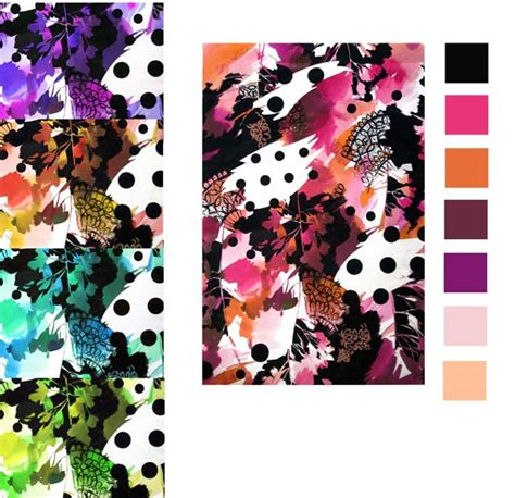floral pattern in spanish spanish dots and watercolours flowers pattern