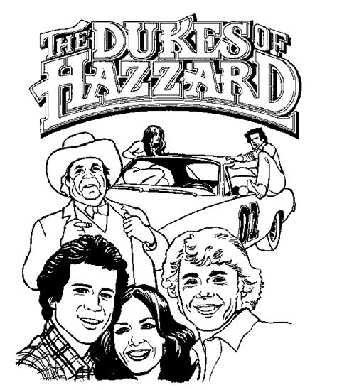 dukes of hazzard coloring pages coloringpages1001 com