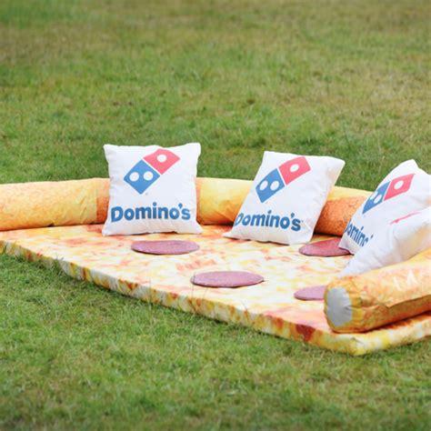 sofa pizza domino s created a pizza couch because dreams do come true