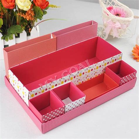 container store desk organizer diy desk storage box desktop makeup cosmetic container