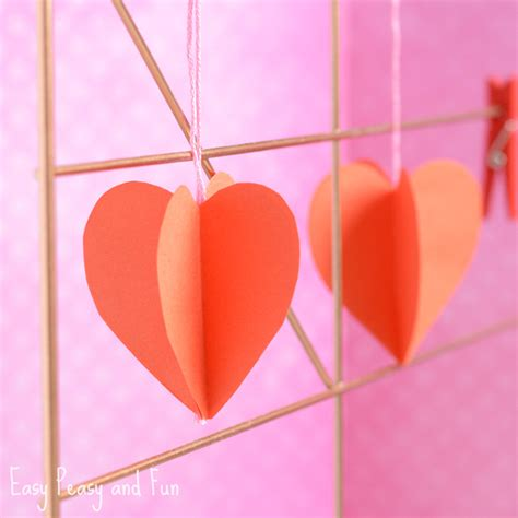 Craft Paper Hearts - crafts for for s day simply being