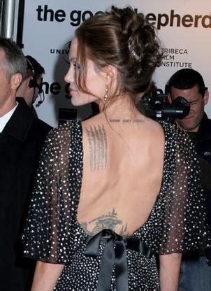 angelina jolie buddhist tattoo tattooed celebrities