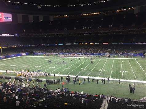 section 11 football superdome section 309 new orleans saints rateyourseats com