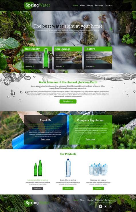 water company website templates themes