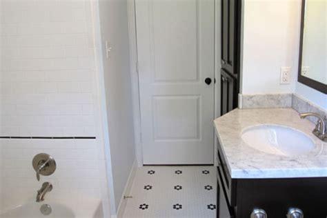 penny tile in bathroom penny tile subway tile bathroom