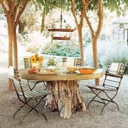 tree stump dining table quotes