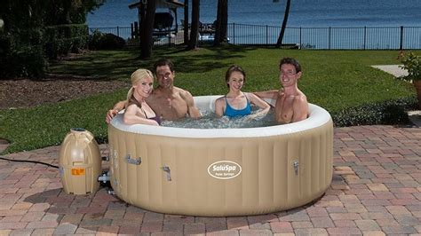 hot tub swinging blow up a hot tub in your backyard for under 350