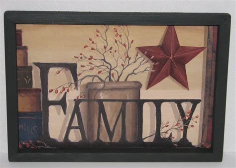 country wall decor primitive country family 9 quot x 13 quot wall decor beautiful 19 99 picclick