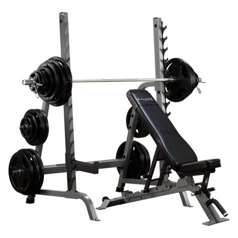 bench and squat rack combo body solid commercial bench squat rack combo package sdib370
