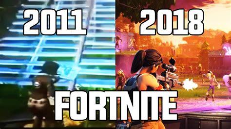 fortnite history evolution of fortnite 2011 2018