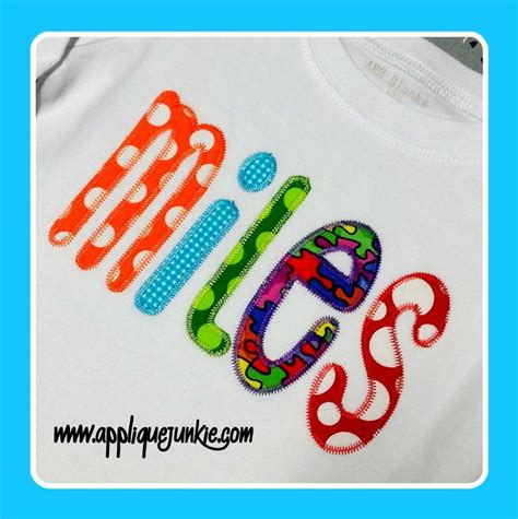 zig zag applique all boys font applique with zigzag stitch