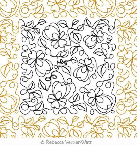 Digital Quilting Designs by Sisley Flower Verrier Watt Digitized Quilting