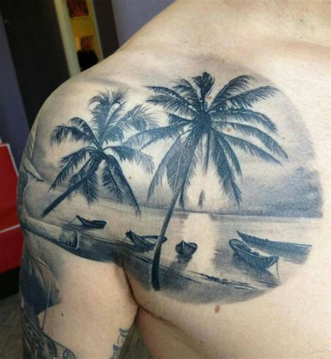 beach scene tattoo sunset s i like