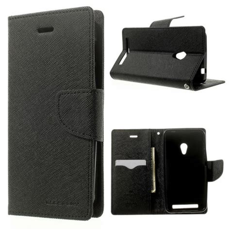 Asus Zenfone 4 Mercury Fancy Flip Casing Cover Merah Biru asus zenfone 4 a450cg black fancy wallet
