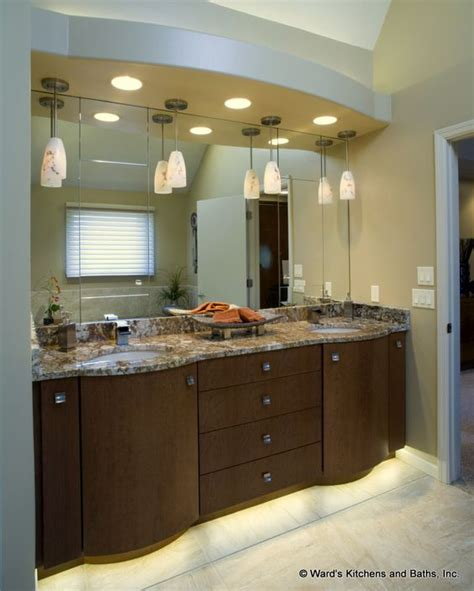 bathroom soffit contemporary curved bath vanity cabinets with toe space