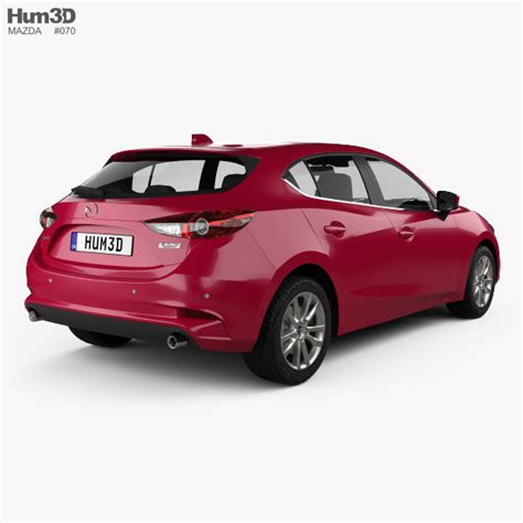 Mazda 3 2017 Hatchback Review by Mazda 3 Hatchback 2017 3d Model Hum3d
