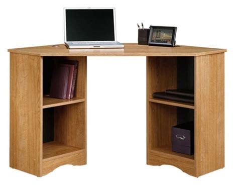oak computer desks small spaces sauder 413073 beginnings collection cinnamon cherry corner