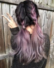 Country girl hairstyles pinterest metallic mauve hair color by