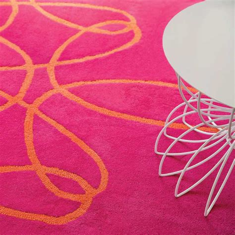 Pink Runner Rug Ribbon Runner Rug In Pink And Orange By Not Neutral
