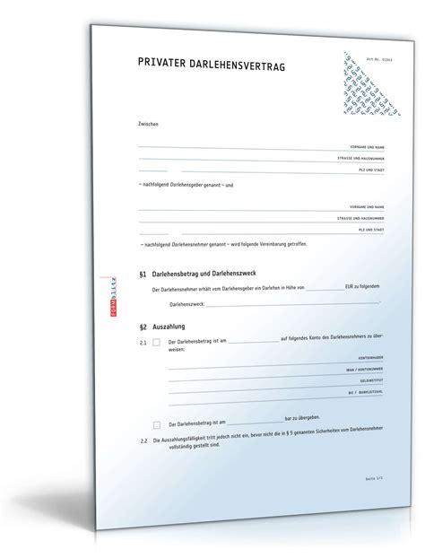 Musterbrief Bearbeitungsgebühr Kredit Zum Drucken Privater Darlehensvertrag Rechtssicher Geld Verleihen